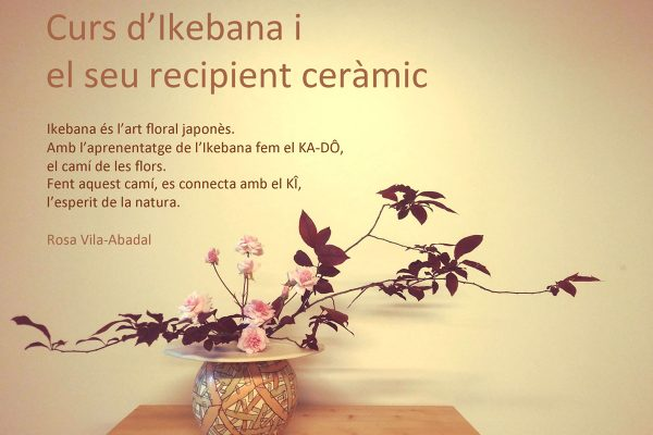 Course of ikebana and its ceramic vessel