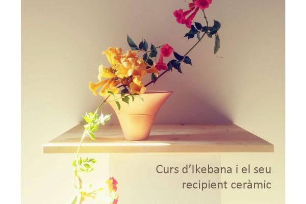 Ikebana course and its ceramic vessel